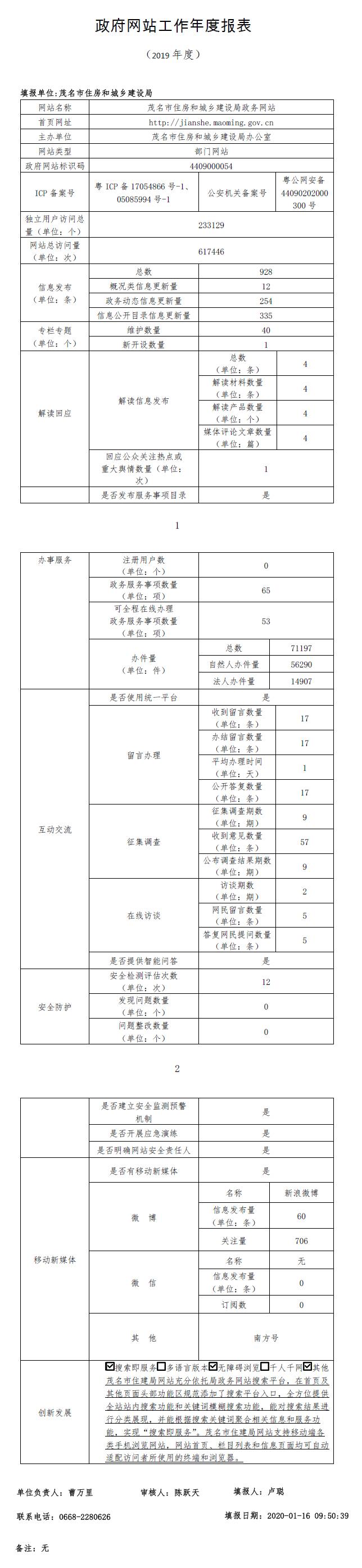 茂名市住房和城乡建设局政府网站工作年度报表(2019年).jpg