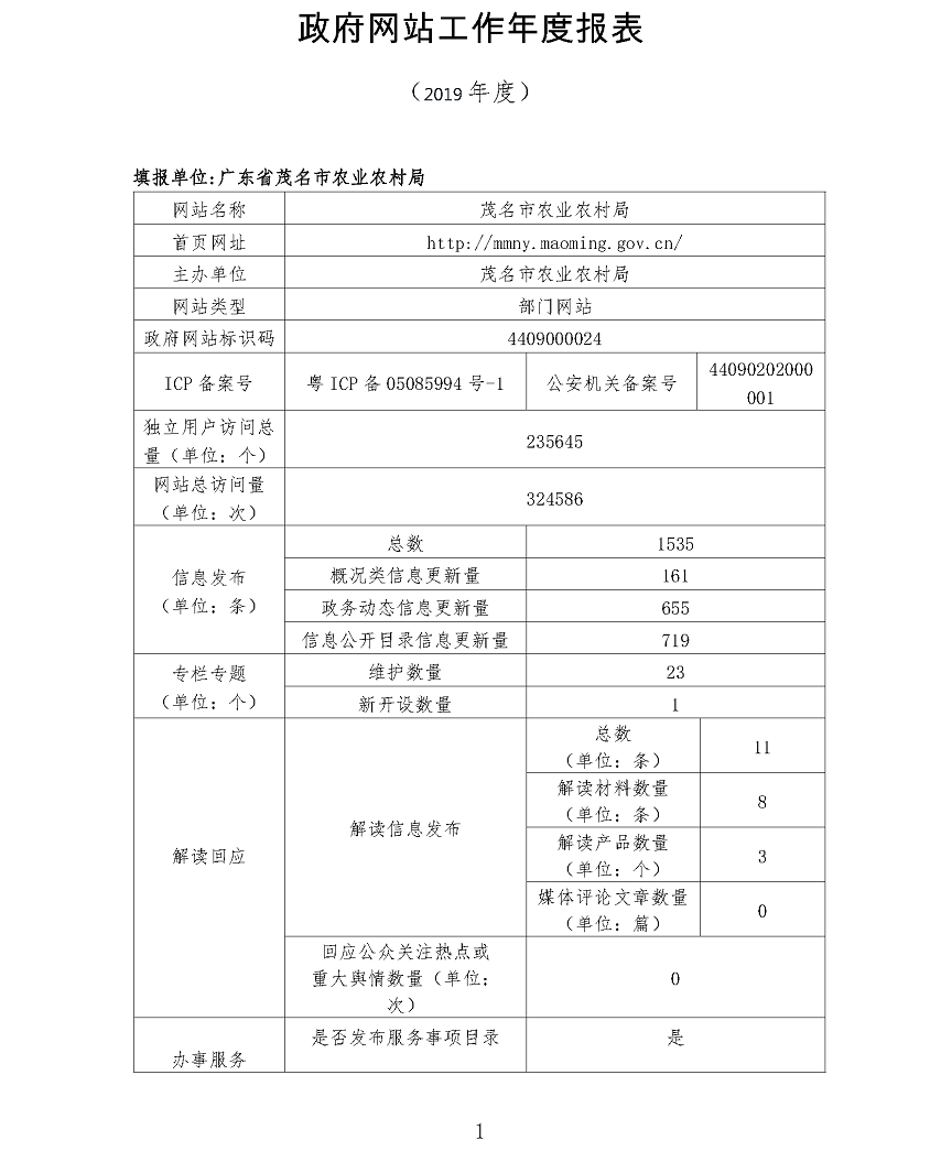 茂名市农业农村局政府网站工作年度报表(2019年)_页面_1.png